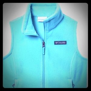 NWOT Girls Turquois Columbia Fleece Vest